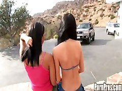 sluts brunette outdoor teen lesbian threesome reality