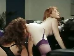 lesbian girl on girl classic strap on pussy licking stockings anal vintage toys dildo ass licking