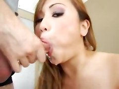 japanese blowjob cum handjob balls licking