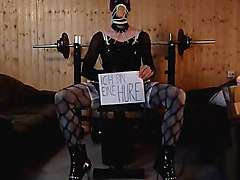 fetish solo masturbation sex toy bondage crossdresser