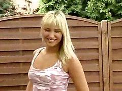 teen girl czech christina dildo blonde