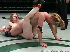 Teens Lesbian Redhead Caucasian Lesbian Licking Vagina Oral Sex Redhead Small Tits Strap-on Teen