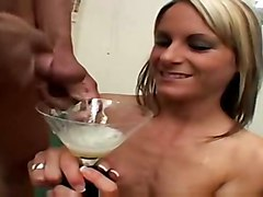 nut jizz gargle swallowing cum swallows swallow guzzle
