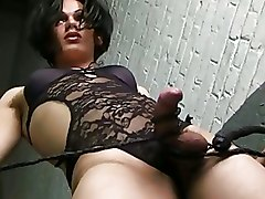 Gorgeous Shemales Shemale american brunette masturbating tgirl tranny transsexual
