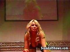 stripper amateur live stage sex show