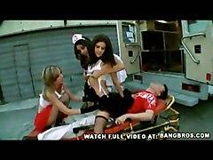 Group Blonde Black-haired Blonde Blowjob Group Sex Hospital Oral Sex Uniform Vaginal Sex