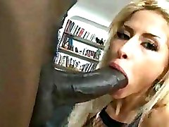 Big Cock Fishnet Interracial