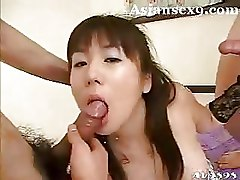 Japanese Threesome bedroom mmf oriental