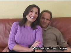 milf wife hotwife cuckold fantasy reality voyeur swinger brunette busty big tits cumshot