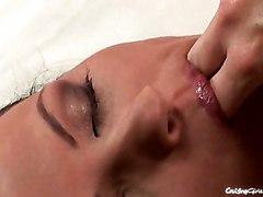 Masturbation Black-haired Caucasian Glamour Masturbation Pornstar Solo Girl Toys Vaginal Masturbation
