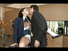 Brunettes Fully Clothed Non Nude office panties tits