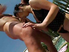 Anal Anal Sex Black-haired Blowjob Caucasian Couple Cum Shot Licking Vagina Oral Sex Pool Small Tits Vaginal Sex