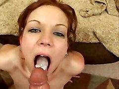 Blowjob POV Blowjob Caucasian Couple Oral Sex POV Piercings Swallow