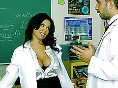 Big Tits Hardcore Stockings bigtits blowjob boobs brunette busty desk fucking student teacher