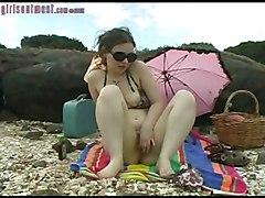 Public Masturbation Bikini Brunette Caucasian Masturbation Public Solo Girl Vaginal Masturbation