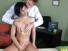 Nice Teenie Sucks And Fucks A Cock