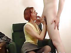 Moms and Boys Redheads blowjob mature
