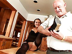 Blowjob Cumshot Lingerie Blowjob Brunette Caucasian Couple Cum Shot Fetish Footjob Licking Vagina Lingerie Masturbation Oral Sex Shaved Stockings Young & Old