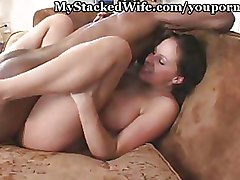 Big Tits Interracial riding wife