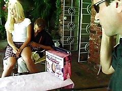 Anal Group Facials Blonde Double Penetration Anal Sex Blonde Blowjob Caucasian Cum Shot Double Penetration Facial Oral Sex Outdoor Shaved Threesome Vaginal Sex Alana Evans