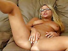 Big Tits Fingering Glasses