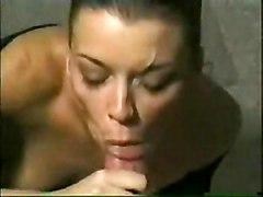 Blowjob Cumshot POV Blowjob Brunette Caucasian Couple Cum Shot Deepthroat Oral Sex POV Pantyhose Piercings