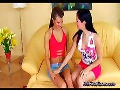 lesbian girl on girl toys dildo babe kissing pussy licking