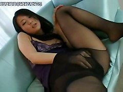 masturbating masturbation solo asian pantyhose softcore