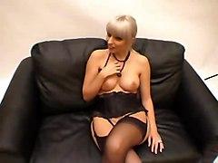 anal stockings cumshot facial blonde blowjob fingering lingerie pussyfucking belt suspender