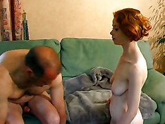 Teens Redhead Blowjob Caucasian Couple Cum Shot Oral Sex Redhead Shaved Teen Vaginal Sex Young & Old