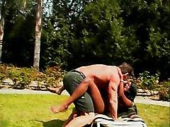 Swallowing Vanilla Cock In The Sun
