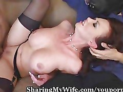 Big Tits Cuckold busty stocking wife