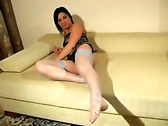 Brunettes Foot Fetish Stockings