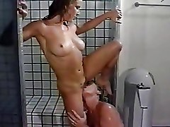 Lesbian Shower pussy licking