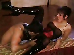 Pussy Licking Vintage boots brunette non nude