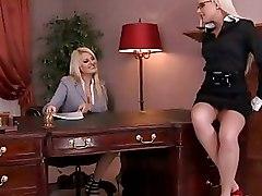 Fingering Lesbian Office blonde licking
