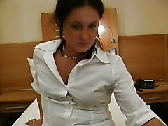 Brunette Caucasian Couple German Masturbation Piercings Shaved Stockings Vaginal Masturbation
