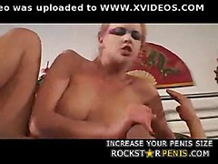 anal blonde fucked cock swallowing busty with makeup then factory