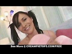 cum teen hardcore creampie blowjob brunette pigtails pussyfucking