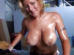 Hardcore Milf riding cock tanned body