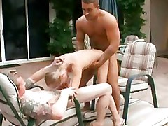 Doggy Style Gang Bang Outdoor Teen