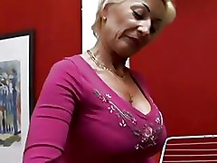 69 Boots Granny blonde sex