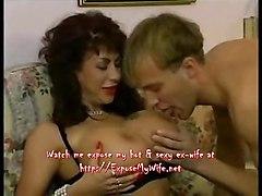 gina milf mature huge-tits big-tits busty blowjob oral hardcore sex cumshot jizz lingerie