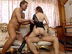 Anal Lingerie Threesomes