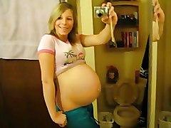 Girlfriends Pregnant Self shooting
