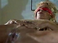 Blondes Office oiled pussy
