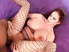 Big Tits Fishnet Gianna Michaels Interracial big cocks