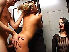 Extreme Hot Teens In Porn Shop Nailed