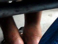 Try Footsie With Milf In Bus
