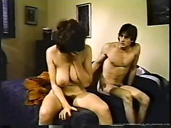milf blow job brunette mature ass big tits drinking retro classic young on old